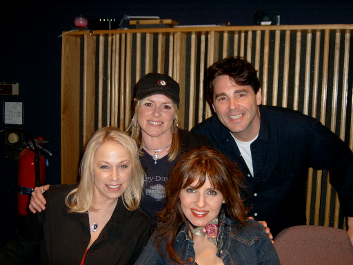 With Tammy Cochran, Anita Cochran and Deborah Allen. Nashville, 2004